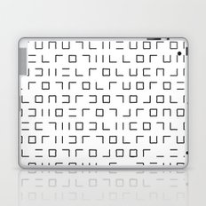 Code Breaker - Abstract, black and white, minimalist artwork Laptop & iPad Skin