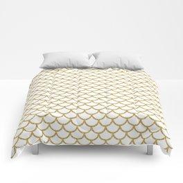 Gold Mermaid Scales Comforters