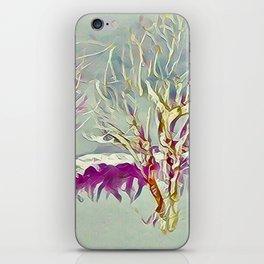 Winter Trees Purple Teal Gold Buffalo by CheyAnne Sexton iPhone Skin