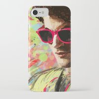 darren criss iPhone & iPod Cases featuring Colourful Darren Criss by Ines92