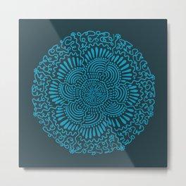 Wavy Circle Metal Print