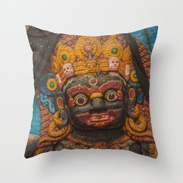Temples and Architecture of Kathmandu City, Nepal 002 Throw Pillow