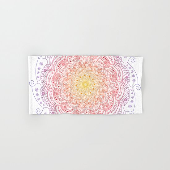 Round ornament - color Hand & Bath Towel