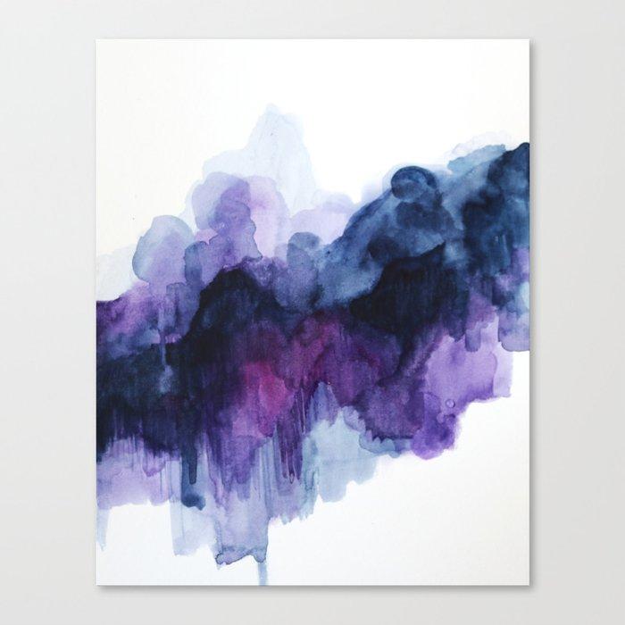 Purple abstract watercolor Leinwanddruck