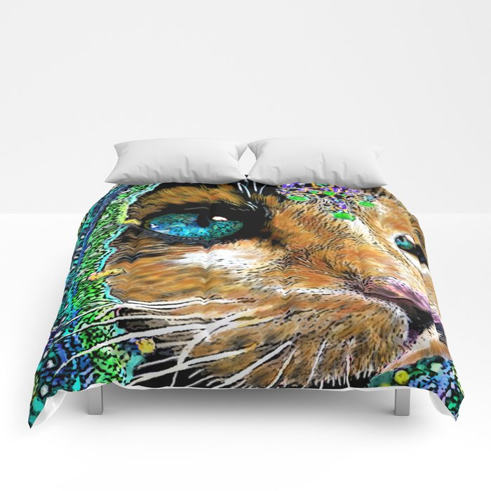 Calico Indian Bride - Cats Feline Catitude Comforters