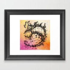 the big monster Framed Art Print