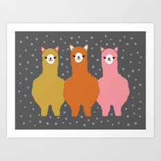 The Alpacas III Art Print