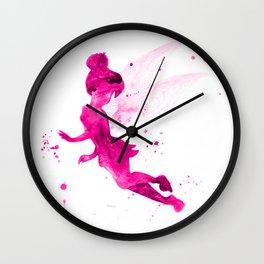 Tinker Bell, pink Wall Clock