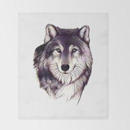 Wolfe Smile Throw Blanket