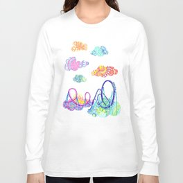 We'll see you in style, riding rainbow roller-coasters in the sky. Long Sleeve T-shirt