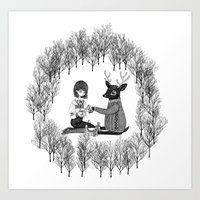 Forest Tea Time Art Print