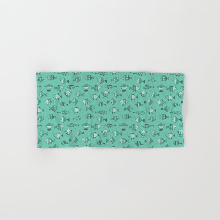 Geometric fish Hand & Bath Towel