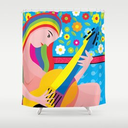 The-musician Shower Curtain