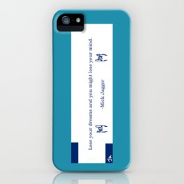 Mick Jagger Quotation Fortune Cookie iPhone Case