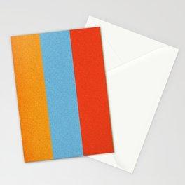VINTAGE RETRO PATTERN VERTICAL BARS Stationery Cards