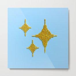 Sparkles Food Emoji Metal Print