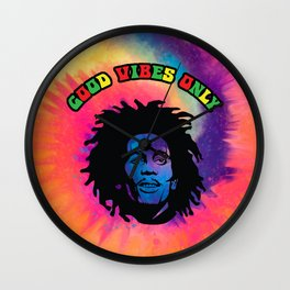 Good Vibes only, Marley vibes. Wall Clock