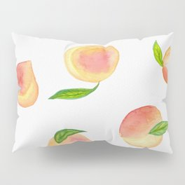 Fun Watercolor Peaches Pillow Sham