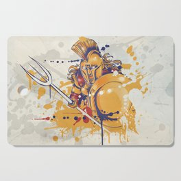 roman warrior with the trident Cutting Board