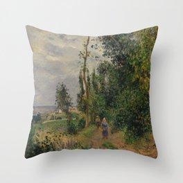 Camille Pissarro - Côte des Grouettes, near Pontoise (1878) Throw Pillow