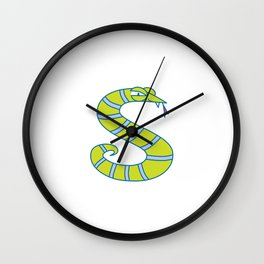 Lowercase s, no border Wall Clock