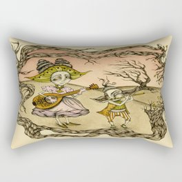 Ballad of the Ruby Sky Rectangular Pillow