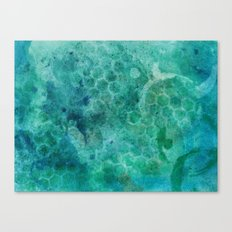 Honeycomb Blue Canvas Print