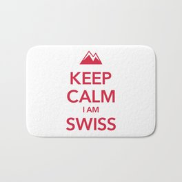 KEEP CALM I AM SWISS Bath Mat