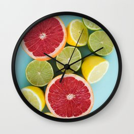 Citrus summer Wall Clock