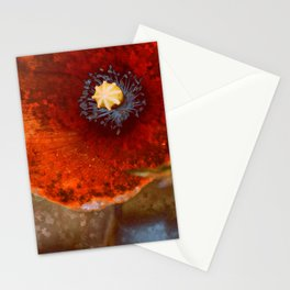 Poppies parched Stationery Cards