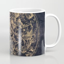 Vintage Constellations & Astrological Signs | Yellowed Ink & Cosmic Colour Coffee Mug