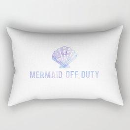 Mermaid Off Duty - Purple & Blue Seashell Rectangular Pillow