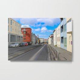 reykjavik street view Metal Print