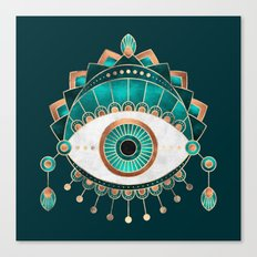 Teal Eye Canvas Print