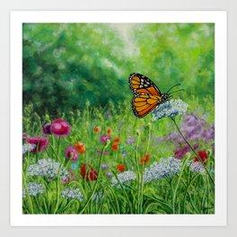 Summer Monarch Art Print