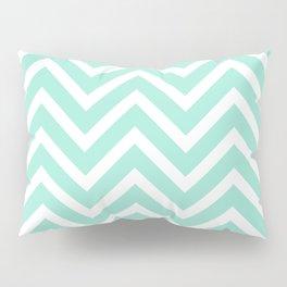 Chevron Stripes : Seafoam Green & White Pillow Sham