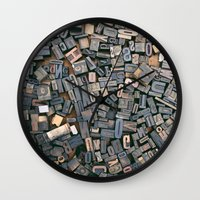 letters Wall Clocks featuring Letters by Abby Wheeler