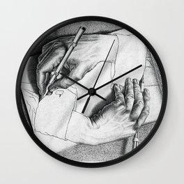 Drawing Hands Wall Clock