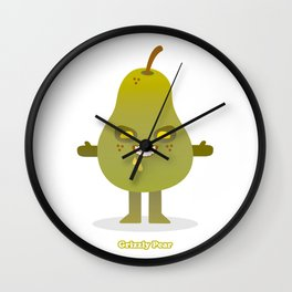 'Grizzly Pear' Robotic Wall Clock