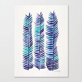 Indigo Seaweed Canvas Print