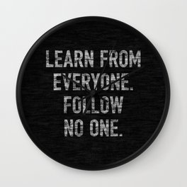 Learn from Everyone Wall Clock