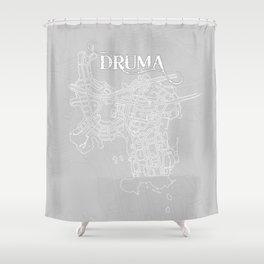 DRUMA Grey Shower Curtain