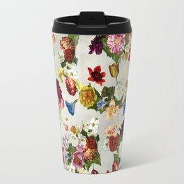 Flowery (white version) Travel Mug