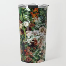 Gustave Courbet Bouquet of Flowers in a Vase Travel Mug