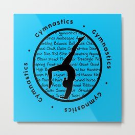 Circle Gymnastics new blue Metal Print