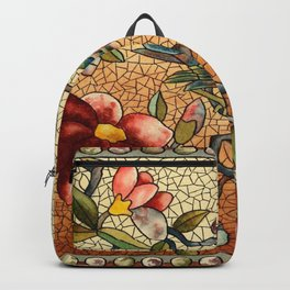 Vintage Stain Glass Backpack