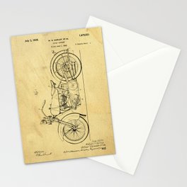 Motorcycle Support Patent Drawing From 1925 Stationery Cards