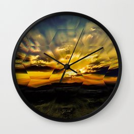 Fall into the Looking Glass Wall Clock