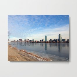 Frozen Back Bay Metal Print
