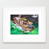 rowing Framed Art Prints featuring Rowing  by Piubeniart